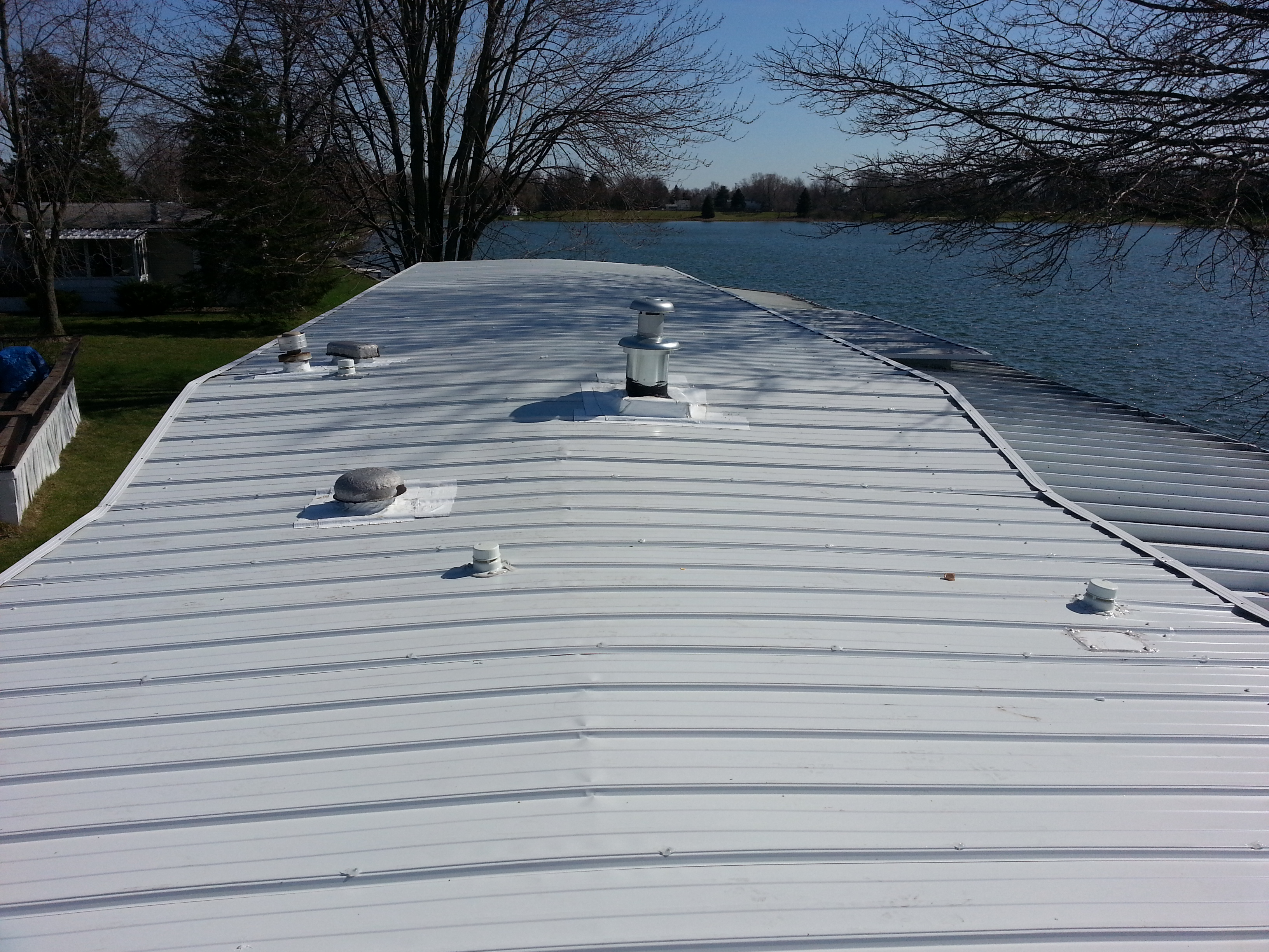 ... Chesterfield MI Mobile Home Metal Roof 1