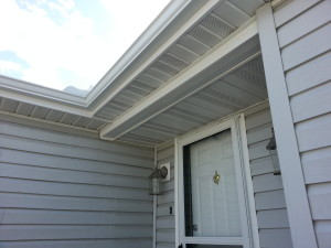 shelby twp mi wind and water damaged doorway overhang repair 2